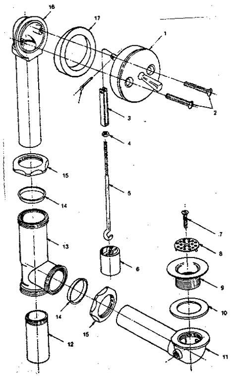 Bathtub Plumbing Diagram Exploded Parts  Kitchens & Bath