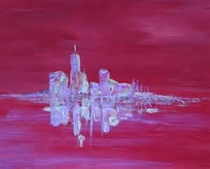 Tableau Rose Et Gris : tableau peinture contemporain village rose gris village rose ~ Teatrodelosmanantiales.com Idées de Décoration