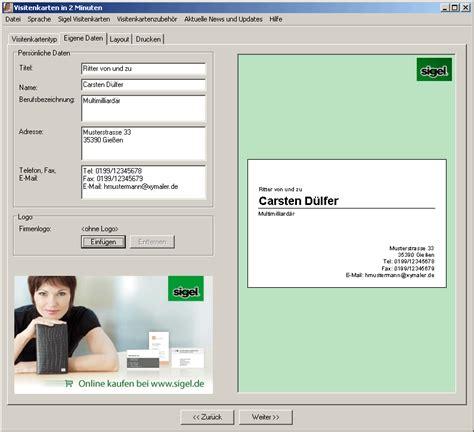 software zum visitenkarten erstellen kostenlos