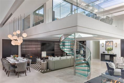elegant contemporary mayfair penthouse  sleek glass