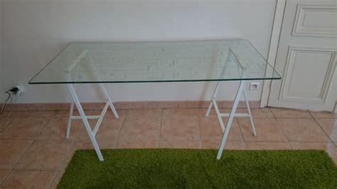 plateau de bureau en verre ikea tréteaux plateau clasf