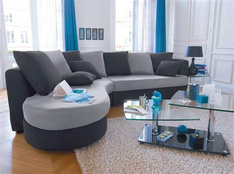 canapé milos canapé d 39 angle noir et gris