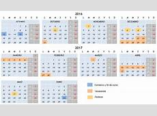 CALENDARIO ESCOLAR 20162017 Little Vigo