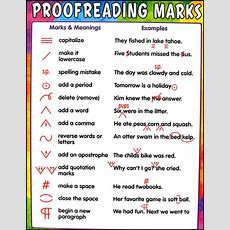 Proofreading Marks Chart, Teacher Created Resources, 028747  Rainbow Resource