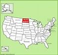 North Dakota location on the U.S. Map
