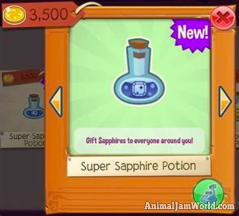 super sapphire potion
