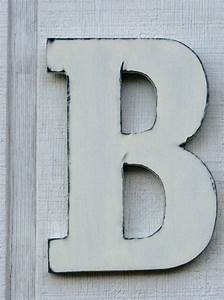 items similar to guest book large wooden letters rustic With big wooden letter b