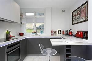 Small G Shaped Kitchen - Modern - Kitchen - other metro