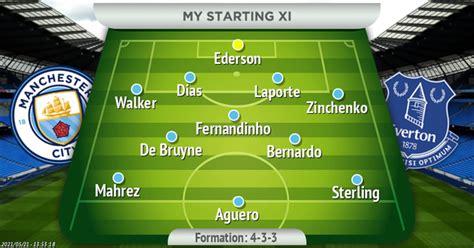 How Man City should line up vs Everton in Sergio Aguero's ...