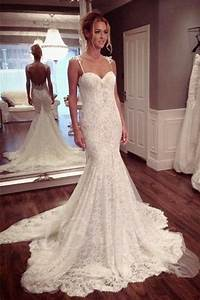 sexy backless mermaid lace wedding dresses 2017 long With affordable lace wedding dresses