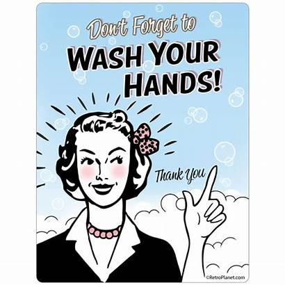 Retro Wash Hands Forget Dont Retroplanet Cool