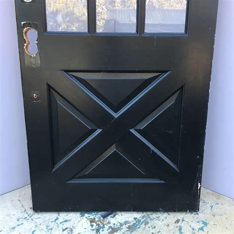 lite cross buck entry door