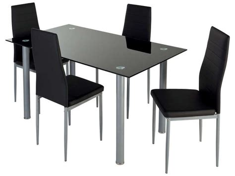 table et chaise conforama ensemble table 4 chaises featuring coloris noir vente