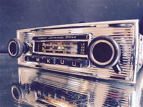 becker grand prix vintage chrome classic car fm radio mp3