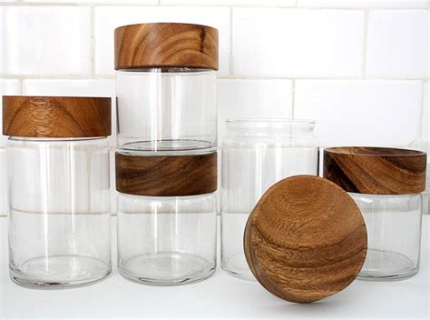 green kitchen canisters fancy wood glass canisters chabatree