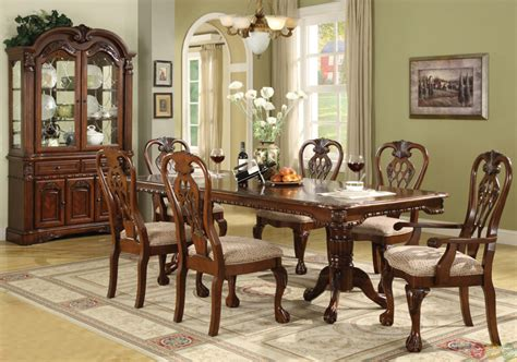 brussels traditional dining room set  piece set