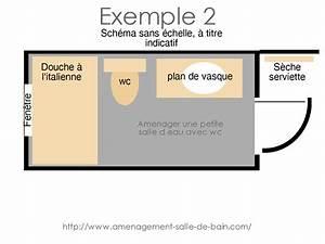 Plan Petite Salle De Bain : amenager une petite salle d eau avec wc ~ Melissatoandfro.com Idées de Décoration