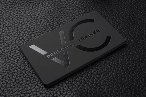 A great business card can help your business stand out in a crowd. FREE Impressive Hard Suede Personal Trainer Business Card ...
