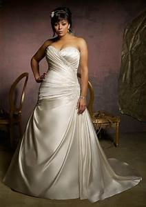 stunning plus size wedding dresses 2015 satin lace cheap With wedding dresses for plus size brides cheap