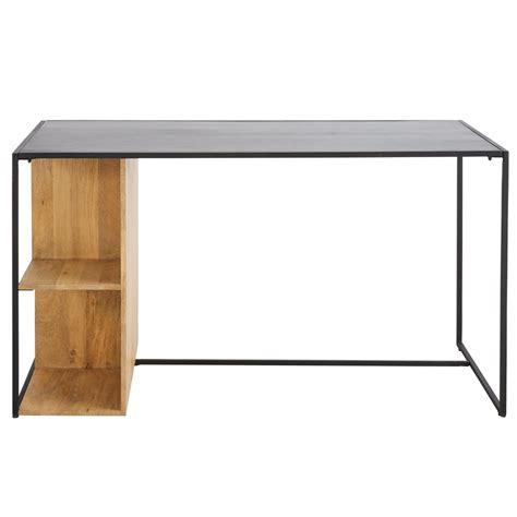 bureau en metal bureau wayi en métal noir et manguier massif bureau