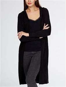 Gilet Long Noir Femme : gilet long ouvert capuche femme kiabi 27 00 ~ Voncanada.com Idées de Décoration