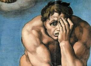 michelangelo–juicio final–detalle | Catholic Man Night