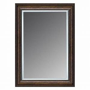 shop allen roth copper beveled wall mirror at lowescom With kitchen cabinets lowes with mirrored frame wall art