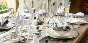 Table De Noel Blanche : ma d co de table pour un no l au naturel femme actuelle le mag ~ Carolinahurricanesstore.com Idées de Décoration