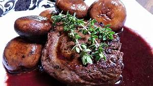 filet mignon with wine reduction sauce
