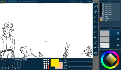 flockmod interactive drawing   modern age