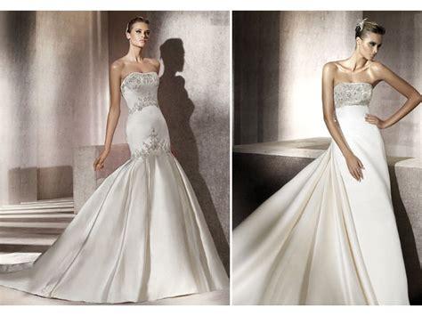 Chic Drop-waist Ivory Silk Mermaid Wedding Dress With