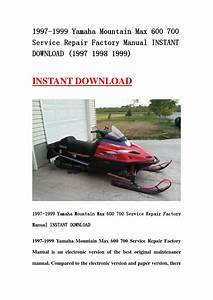 1997 1999 Yamaha Mountain Max 600 700 Service Repair