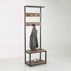Porte Manteau Chaussure : meuble d 39 entr e hiba bois m tal la redoute interieurs la redoute ~ Preciouscoupons.com Idées de Décoration