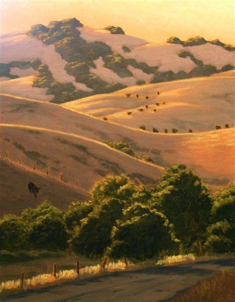 california landscape pictures northern california landscape painting california hills in summer marin county original oil