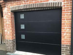 porte de garage dunkerque par tryba bailleul portail de With porte de garage sectionnelle noire