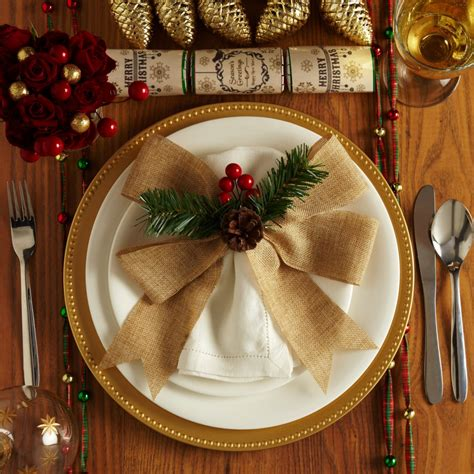 themed christmas table setting ideas poundland