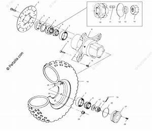 Polaris Atv 2003 Oem Parts Diagram For Front Wheel