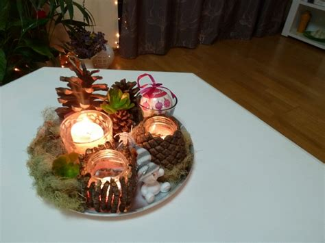 Diy Christmas Candle Centerpieces 4 Piece Kitchen Table Set Runner And Napkin Drum Dining Chairs Argos Tables Used Garden Bistro Sets Up Meaning