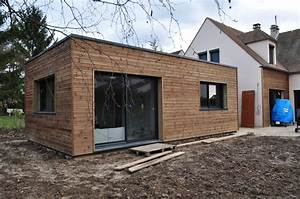 Toit En Bois : extension maison ossature bois toit plat ventana blog ~ Melissatoandfro.com Idées de Décoration