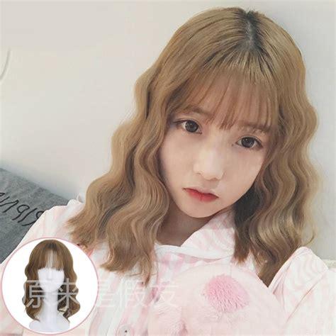 korean short curly hair hair color ideas  styles