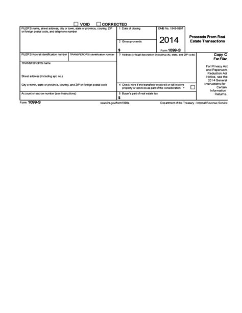 form 1099 s proceeds from real estate transactions 2014
