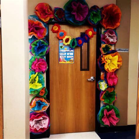 fiestaspring classroom door decor festive