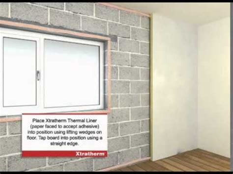 install xtratherm thermal liner dry lining youtube