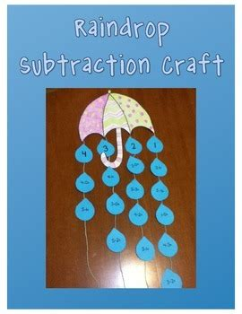 rainy day subtraction craft  laura jozwiak teachers
