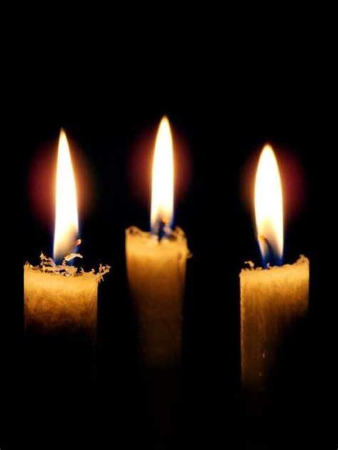 candle light kerzen 3 kerzen zum dritten advent wachskerze stearinkerze