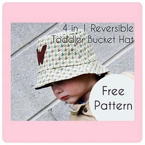 toddler reversible bucket hat  pattern sew  ado