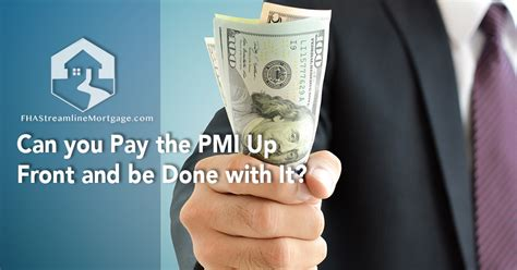 It is required on certain fha loans. Can you Pay the PMI Up Front and be Done with It? - FHAStreamlineMortgage.com