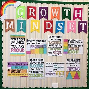 12Pcs Growth Mindset Learn English Quotes Proverb ...