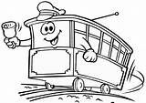 Kereta Gambar Mewarnai Coloring Api Strassenbahn Kartun Colorear Hitam Putih Untuk Thomas Dibujos Malvorlagen Tram Tranvias Dibujo Ausdrucken Autobus Tramway sketch template