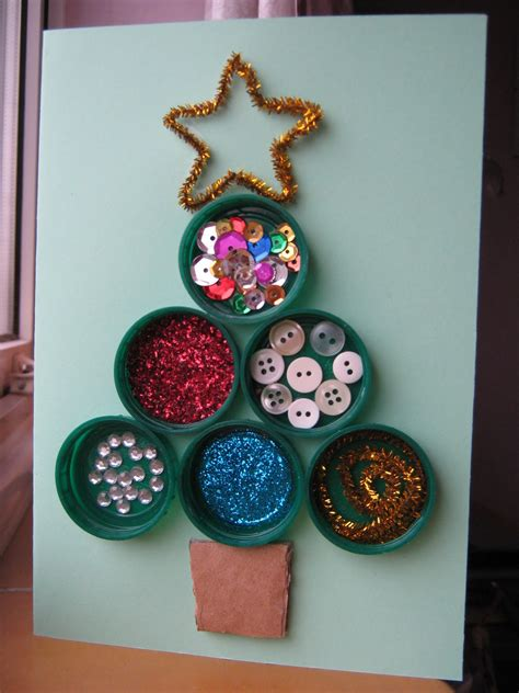 The Craftarty Kid (old Blog) Bottle Top Christmas Tree